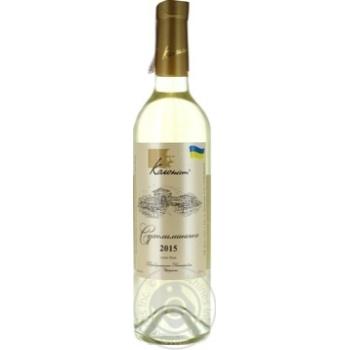 Вино Колонист Сухолиманское белое сухое 12% 0,75л - купить, цены на Ашан - фото 1