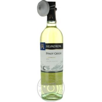 Вино Mezzacorona Pinot Grigio Trentino DOC 12% 0,75л