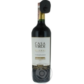 Вино Casa Verde Reserva Carmenere Valle Central DO 13% 0,75л