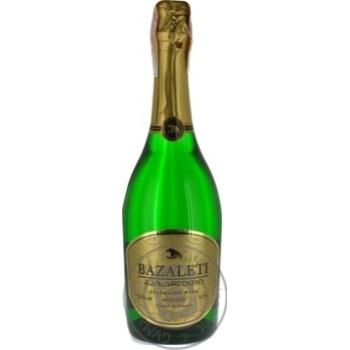Вино игристое Bazaleti белое полусухое 12,5% 0,75л - купить, цены на Novus - фото 3