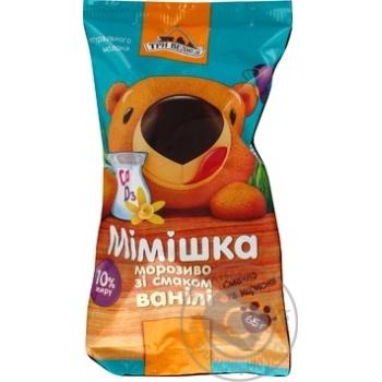 Морозиво Три медведя Мімішка ванільне ст 65г