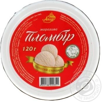 """Морозиво ТМ""""Ажур""""золотий стандарт ванільне стакан 120г"""