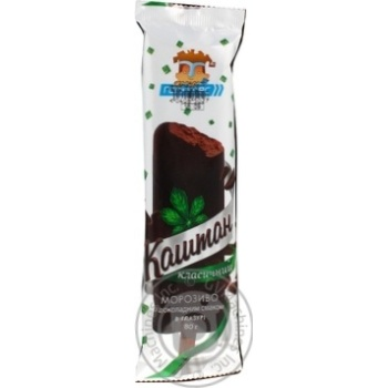 Ice-cream Hercules Kashtan with chocolate 80g sachet