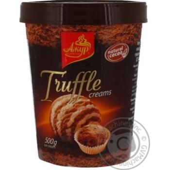 Морозиво Ажур зі смаком трюфель-вершки карт.ст.500г