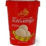 Ice-cream Azhur Gold standard with vanilla glace plombieres 500g bucket Ukraine