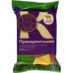 Сир твердий 50% Прикарпатський з овечим молоком Клуб Сиру в/у 185г