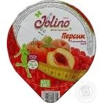 Десерт фруктовый Джолино Персик в малиновом желе 150г