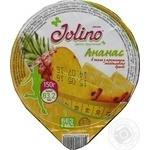 Десерт фруктовый Джолино Ананас в желе с ароматом миндального бренди 150г