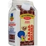Beverage Voloshkove pole milky with cocoa 2.8% 450g tetra pak