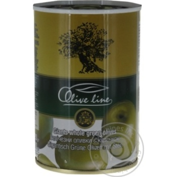 Olive Line Pitted Big Green Olives 420g - buy, prices for Novus - image 1