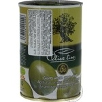 Olive Line Pitted Big Green Olives 420g - buy, prices for Novus - image 3