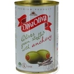 olive Diva with anchovy green pitted 300g can
