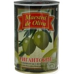 olive Maestro de oliva green pitted 420g can