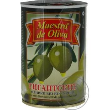 Оливки Maestro de Oliva гігантські без кісточки 432мл