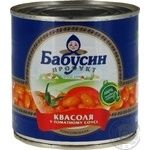 Vegetables kidney bean Babusyn product in tomato sauce 430g can