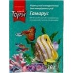 Корм сухий натуральний Topsi для акваріумних рибгамарус 10г