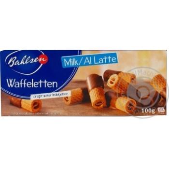 Печенье Bahlsen Waffeletten в молочном шоколаде 100г
