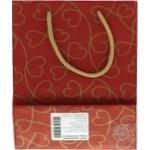 Пакет подарунковий крафт №3 150*230*80 - купить, цены на Novus - фото 3