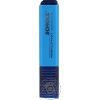 Маркер Sсholz текстовый голубой - купить, цены на Ашан - фото 2