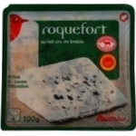 Сыр Auchan Рокфор 55% 100г