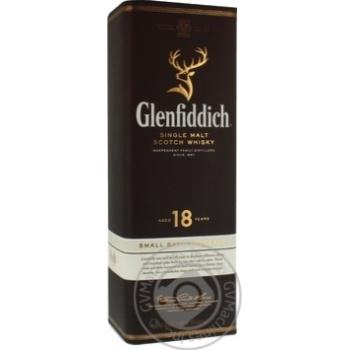 Виски Glenfiddich 18 лет тубус 0,7л