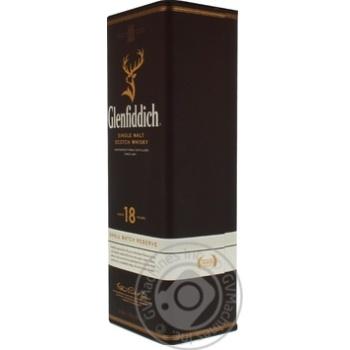 Віскі Glenfiddich 18 років тубус 0,7л - купити, ціни на МегаМаркет - фото 2