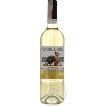 Вино Sangre y Arena Blanco Semidulce белое полусладкое 11% 0,75л - купить, цены на СитиМаркет - фото 1