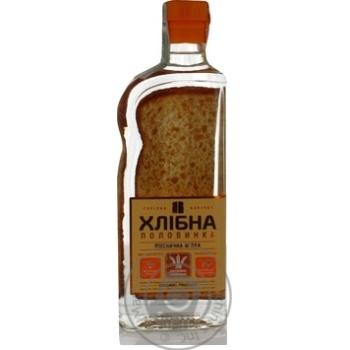 Vodka Khlibna polovynka 37.5% 450ml glass bottle - buy, prices for Novus - image 1