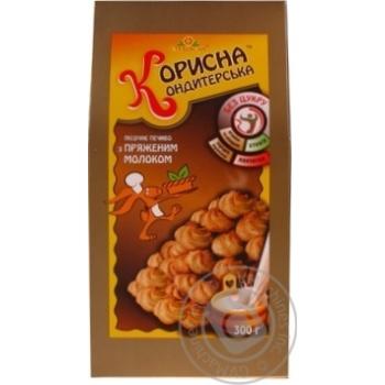Печенье Корисна Кондитерська песочное с топленым молоком без сахара 300г - купить, цены на Novus - фото 5