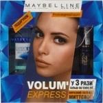 Промонабір Мейбеллін Нью-Йорк:  туш для вій Вольюм Експрес класична, чорна, 10 мл та Експерт Айз, засіб для зняття водостійкого макіяжу з очей,