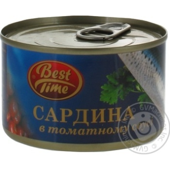 Fish sardines Best time in tomato sauce 240g