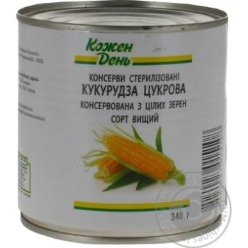 КОЖЕН ДЕНЬ Кукурудза консервована 340 г