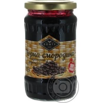 Sonty черная смородина перетертая с фруктозой 400г - купить, цены на Ашан - фото 1