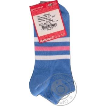 Шкарпетки Брестские Classic жіночі блакитні 23р - купити, ціни на МегаМаркет - фото 2