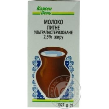 Молоко Каждый день ультрапастеризованное 2.5% 1027г - купить, цены на Ашан - фото 2