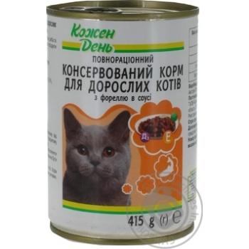 Консервы Каждый день для взрослых кошек с форелью в соусе 415г