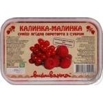Vushivanka Frozen With Sugar Mashed Viburnum And Raspberry