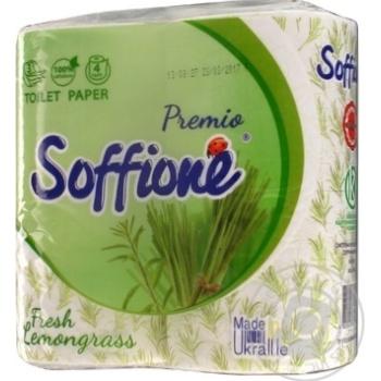 Toilet paper Soffione lemongrass 4pcs - buy, prices for Furshet - image 1