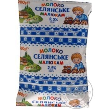 Молоко Селянское Малышам ультрапастеризованное 2.5% 900г
