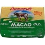 Масло Яготинское сладкосливочное бутербродное 69.2% 200г