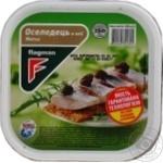Сельдь Flagman филе-кусочки в масле Матье 500г