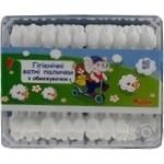 Cotton sticks Auchan Auchan for children 60pcs
