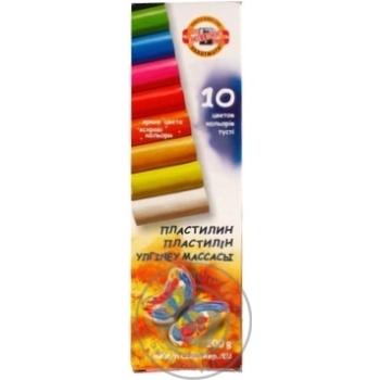 Пластилин Koh-i-Noor 10 цветов 200г