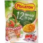 Приправа Роллтон универсальная 12 овощей и трав с базиликом и томатами в гранулах 60г