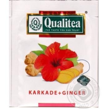 Qualitea Herbal Karkade Tea with ginger 2g