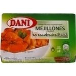 Seafood mussles Dani canned 160g