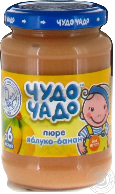 Дитяче харчування для дітей з 6-ти місяців Чудо-Чадо Пюре яблучно-бананове b32c54aae93e7
