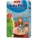 Каша Преміум молочна 5 злаків з пребіотиками Baby King 160г