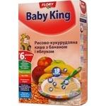 Каша рисово-кукурудзяна з бананом і яблуком Baby King 160г