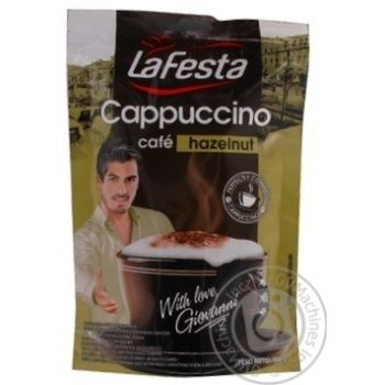 Instant drink La Festa Cappuccino Hazelnut 100g - buy, prices for Novus - image 1